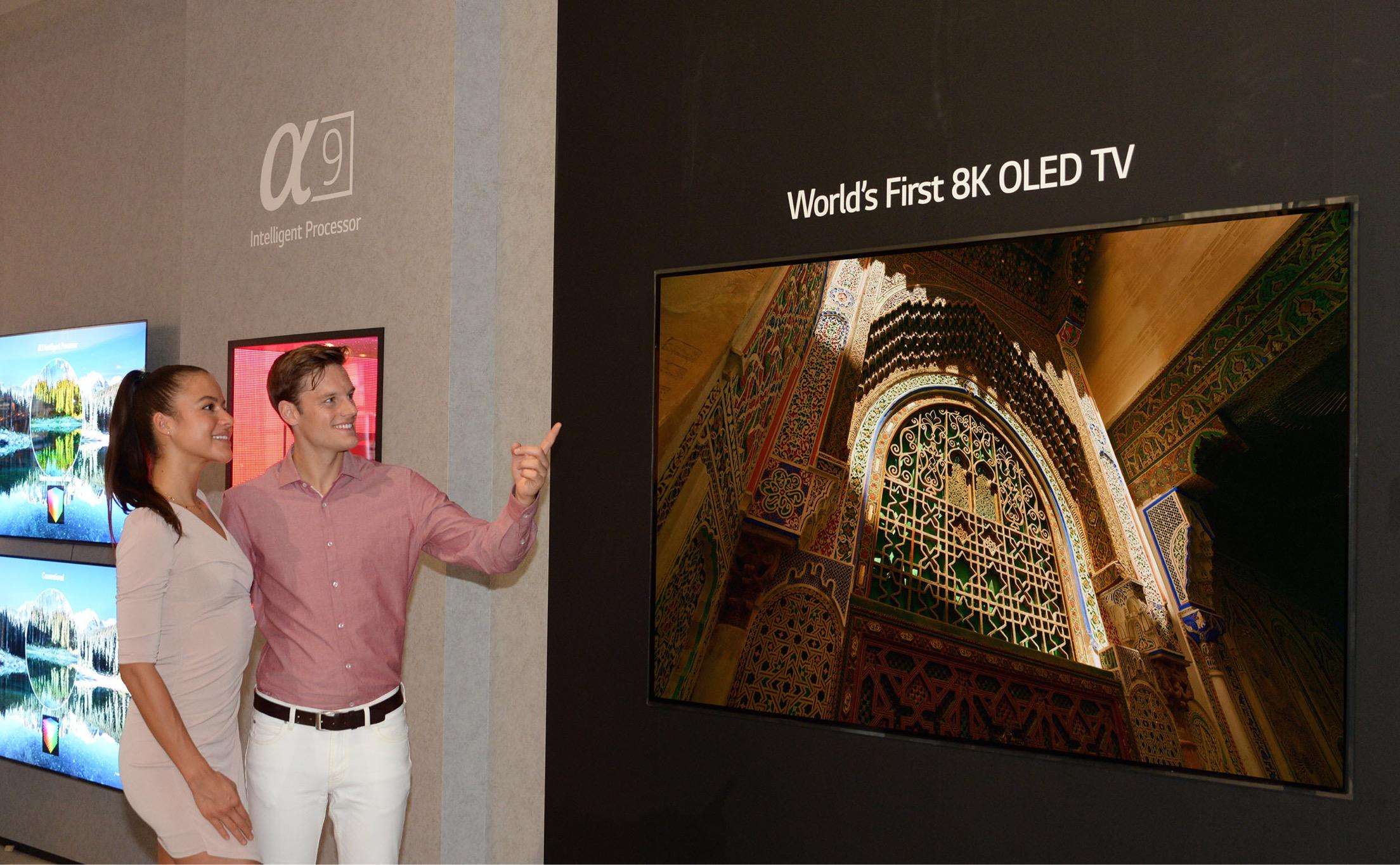 «إل جي» تعلن عن أول تلفزيون OLED 8K في العالم