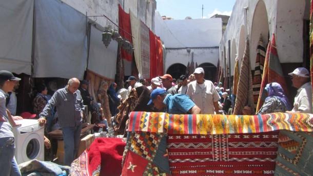 سوق الدلالة بحي الأحباس أو الحبوس بالدار البيضاء